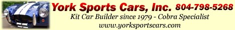 York Sports Cars can build or repair any kit car